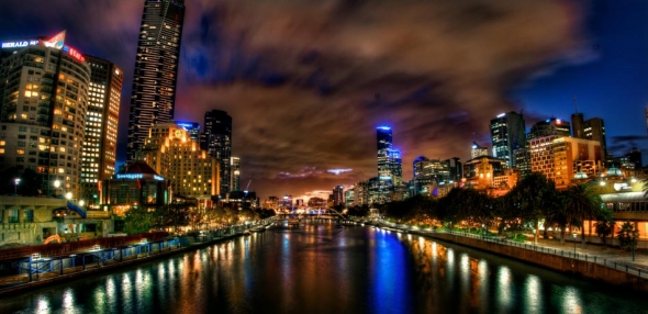 The Yarra River from Princess Bridge. Melbourne in HDR (High Dynamic Range), for The Age iPad App. Pic By Craig Sillitoe CSZ/The Sunday Age 29/5/2011