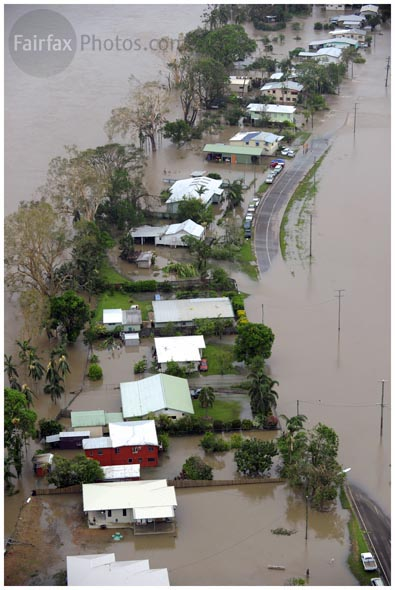Northern Queensland town of Halifax is inundated after heavy rain fell following Cyclone Yasi. Friday 4 February 2010. Picture by Craig Abraham The Age