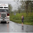 Cyclone Yasi Trucks stopped by fallen powerlines on the Bruce Highway south of Townsville. Thursday 3 February 2011. Picture by Crag Abraham The Age