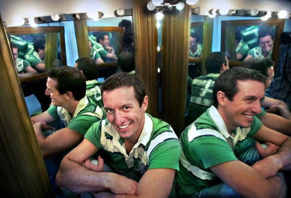 Rove McManus has a dressing room at his office in abbotsford, his show is back on televission Sunday night  Photograph By Craig Sillitoe/The Sunday Age