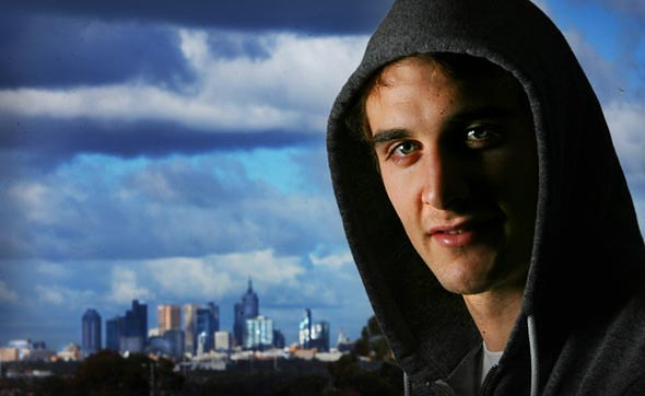 Essendon footballer Jobe Watson  Photograph By Craig Sillitoe/The Sunday Age