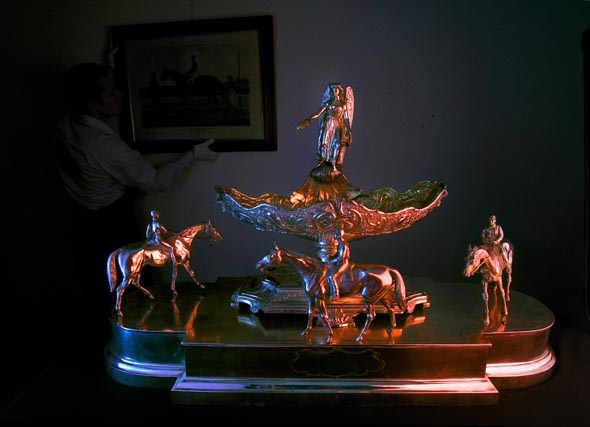 The 1892 Melbourne Cup won by Glen Loth will be auctioned by Bonhams and is expected to fetch between $80,000-$100,000.  The Age . news . October 31, 2007 .  pic by Craig Sillitoe .