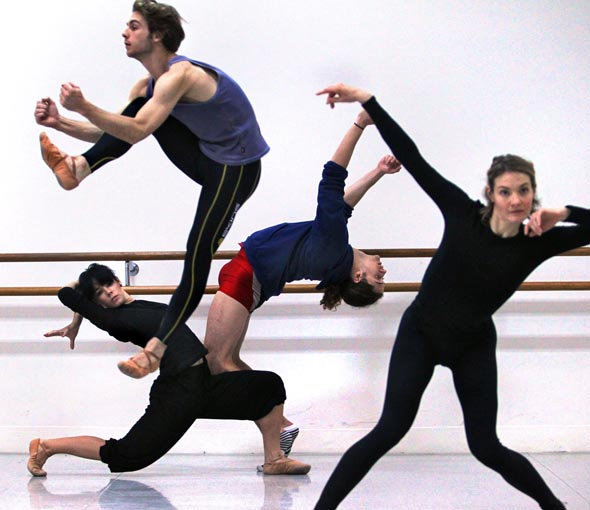 Hot new WA dance company Ludwig will be performing at The Australian Dance Awards. Left to right  starting with the jumper , Cass Mortimer Eipper,  Rhiannon Spratling, Timothy O Donnell and Emma Sandall,   - Photograph By Craig Sillitoe/The Sunday Age