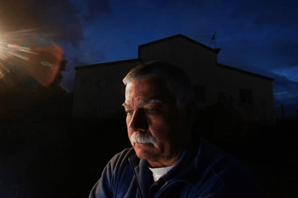Ray Drane on his property at Cranbourne South  - Photograph By Craig Sillitoe/The Sunday Age