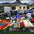 One family's house-hold full of crude oil based products, from their shoes to the acrylic paint on their house. All these products may be affected by the increasing price of crude oil. Joanne & Bill Vlahos and their 15 month old daughter Grace  Photograph By Craig Sillitoe/ The Sunday Age