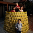 160kg, that's how much sugar the average family consumes in one year, Carolyn Paterson and Steve Pinkerton with their kids James  front  and Liam.  Photograph By Craig Sillitoe/The Sunday Age