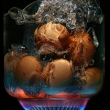 Eggs boiling over gasDigital image by Justin McManus and Craig Sillitoe
