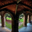Law cloisters University of Melbourne .Melbourne University  Photograph By Craig Sillitoe/The Sunday Age
