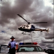 Police helicopter and cars will be used over the holiday season book speeding motorists. Photograph by Craig Sillitoe/The Sunday Age