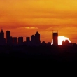 Sunset over Melbourne on New Year's Eve 2000. Photograph By Craig Sillitoe/The Sunday Age