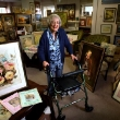 June Banks-Smith with her art including her paintings of fairies Photograph By Craig Sillitoe/The Sunday Age