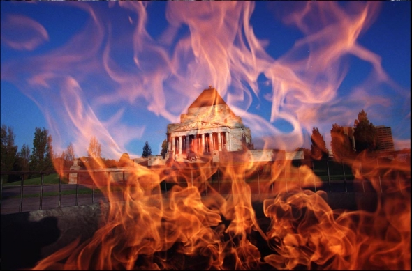 Eternal Flame at The Shrine of Remeberance, Melbourne. Photograph By Craig Sillitoe/The Sunday Age