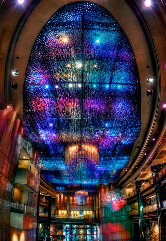 Crown Towers, The Atrium Lightshow. Melbourne in HDR (High Dynamic Range), for The Age iPad App. Pic By Craig Sillitoe CSZ/The Sunday Age 11/5/2011