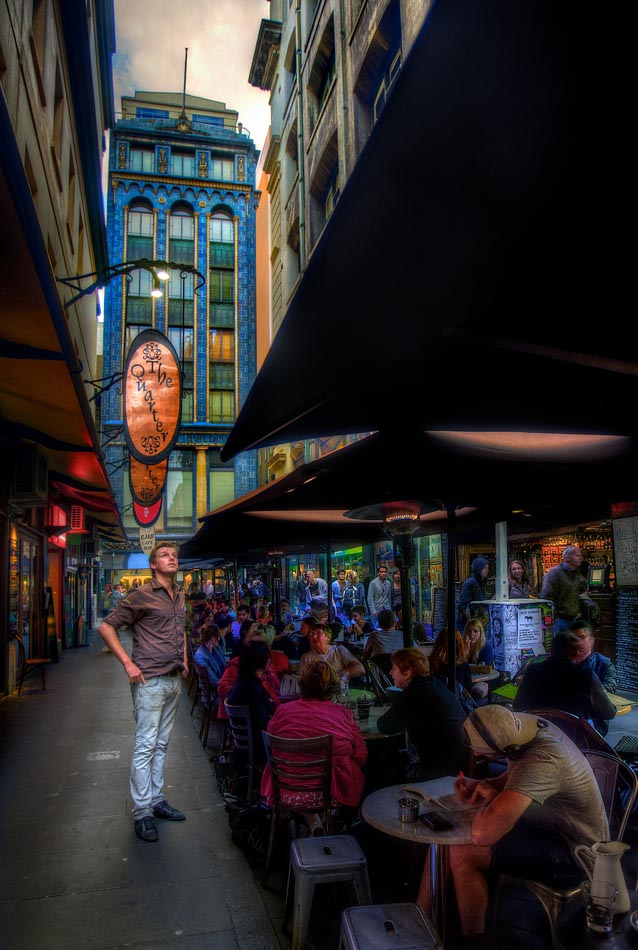 Degraves Street Melbourne. Melbourne in HDR (High Dynamic Range), for The Age iPad App. Pic By Craig Sillitoe CSZ/The Sunday Age 29/5/2011
