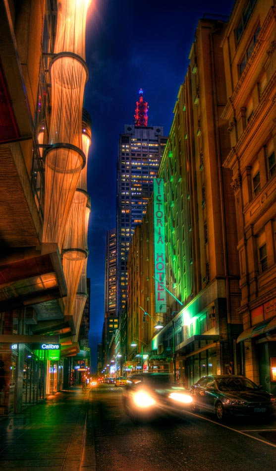Little Collins Street. Melbourne in HDR (High Dynamic Range), for The Age iPad App. Pic By Craig Sillitoe CSZ/The Sunday Age 29/5/2011